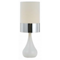 TEAR DROP WHITE & CHROME TABLE LAMP