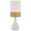 TEAR DROP WHITE & OAK TABLE LAMP