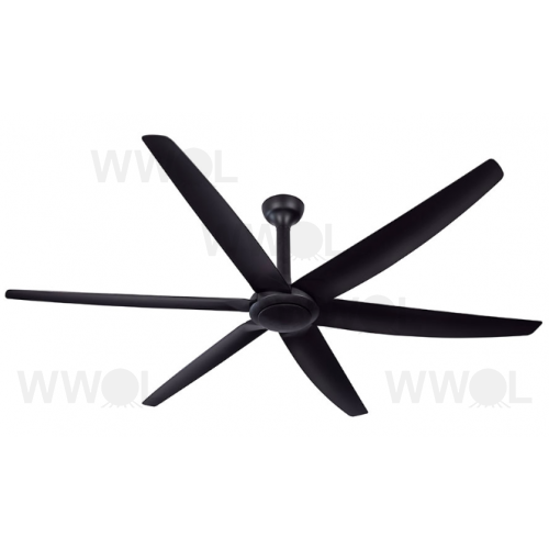 THE BIG FAN DC 269CM SIX AERODYNAMIC WEDGE COMPRESSION BLADES BLACK CEILING FAN