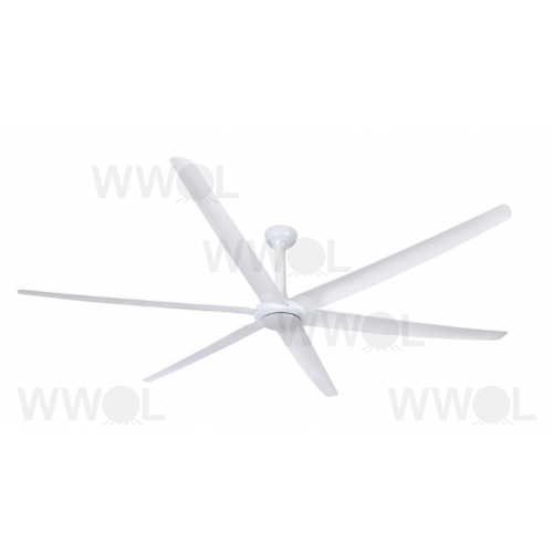 THE BIG FAN DC 269CM SIX AERODYNAMIC WEDGE COMPRESSION BLADES WHITE CEILING FAN