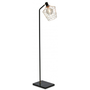 GOLD WITH BLACK MARBLE 160CM FLOOR LAMP