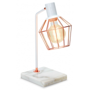 ROSE GOLD WITH WHITE MARBLE 44CM TABLE LAMP