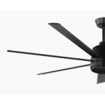 TOURBILLION SEVEN BLADE DC 203CM MATT BLACK INCL 5 SPEED REMOTE CEILING FAN