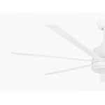 TOURBILLION SEVEN BLADE DC 203CM WHITE INCL 5 SPEED REMOTE CEILING FAN