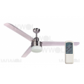 TRISERA 3/4 BLADE 120CM STAINLESS FAN LIGHT REMOTE