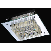 TUSCANY 18 WATT SQUARE LED CRYSTAL CEILING LIGHT 4000K COOL WHITE