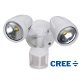 TWIN 30 WATT LED SPOT WHITE 5000K NATURAL WHITE INCL SENSOR