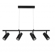 TRACK BLACK FOUR LIGHT PENDANT