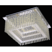 VIENNA 18 WATT SQUARE LED CRYSTAL CEILING LIGHT 4000K COOL WHITE