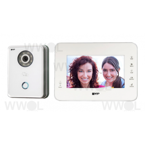 7 INCH COLOUR IP AUDIO VISUAL WHITE INTERCOM KIT