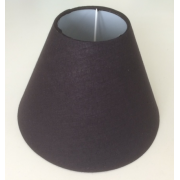 MASON AND FINCH COOLIE BLACK LAMP SHADE 100(T) X 200(B) X 150(H)