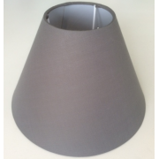 MASON AND FINCH COOLIE DARK GREY LAMP SHADE 100(T) X 200(B) X 150(H)