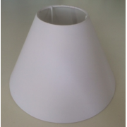 MASON AND FINCH COOLIE WHITE LAMP SHADE 100(T) X 200(B) X 150(H)