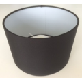 MASON AND FINCH DRUM BLACK LAMP SHADE 200(T) X 200(B) X 130(H)
