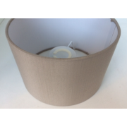 MASON AND FINCH DRUM TAUPE LAMP SHADE 500(T) X 500(B) X 330(H)