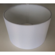 MASON AND FINCH DRUM WHITE LAMP SHADE 200(T) X 200(B) X 130(H)