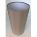 MASON AND FINCH SLIM DRUM TAUPE LAMP SHADE 125(T) X 125(B) X 250(H)