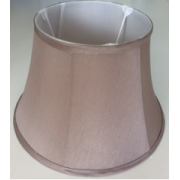 MASON AND FINCH WAISTED DRUM LIGHT GREY LAMP SHADE 175(T) X 300(B) X 200(H)