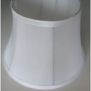 MASON AND FINCH WAISTED DRUM WHITE LAMP SHADE 175(T) X 300(B) X 200(H)