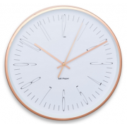 ZONE 38CM WHITE AND ROSE GOLD ROUND WALL CLOCK