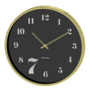ZONE 50CM GOLD AND BLACK ROUND WALL CLOCK