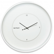 ZONE 60CM WHITE ROUND FLOATING CLOCK