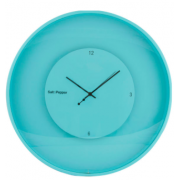 ZONE 30CM LIGHT BLUE ROUND FLOATING CLOCK