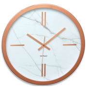ZONE 45CM ROSE GOLD AND MARBLE ROUND WALL CLOCK