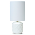 WHITE CERAMIC 48CM TABLE LAMP