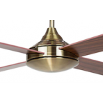 AIR SYNERGY II 106CM ANTIQUE BRASS CEILING FAN REMOTE PACKAGE