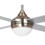 AIR SYNERGY II 106CM BRUSHED NICKEL CEILING FAN LIGHT REMOTE PACKAGE
