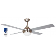 AIR SYNERGY II 130CM BRUSHED NICKEL CEILING FAN LIGHT REMOTE PACKAGE