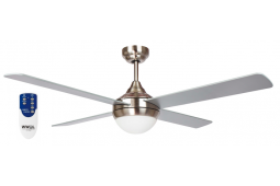 AIR SYNERGY II 120CM BRUSHED NICKEL CEILING FAN LIGHT REMOTE PACKAGE