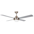AIR SYNERGY II 120CM BRUSHED NICKEL CEILING FAN WITH LIGHT