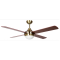 AIR SYNERGY II 130CM ANTIQUE BRASS CEILING FAN WITH LIGHT