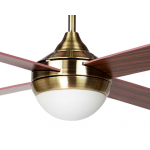 AIR SYNERGY II 120CM ANTIQUE BRASS CEILING FAN WITH LIGHT