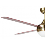 AIR SYNERGY II 106CM ANTIQUE BRASS CEILING FAN WITH LIGHT