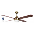 AIR SYNERGY II 106CM ANTIQUE BRASS CEILING FAN LIGHT REMOTE PACKAGE