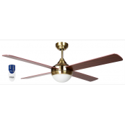 AIR SYNERGY II 130CM ANTIQUE BRASS CEILING FAN REMOTE PACKAGE