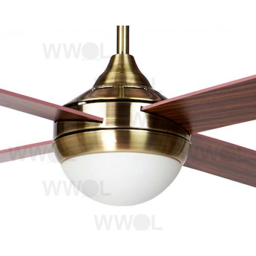 Air Synergy Ii 120cm Antique Brass Ceiling Fan Light