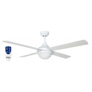 AIR SYNERGY II 106CM MATT WHITE CEILING FAN LIGHT REMOTE PACKAGE