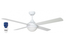 AIR SYNERGY II 120CM MATT WHITE CEILING FAN LIGHT REMOTE PACKAGE