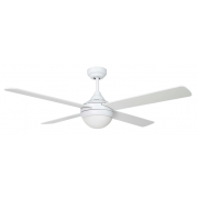 AIR SYNERGY II 130CM MATT WHITE CEILING FAN WITH LIGHT