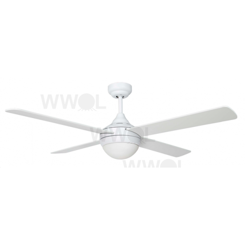 AIR SYNERGY II 106CM MATT WHITE CEILING FAN WITH LIGHT