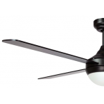 AIR SYNERGY II 106CM MATT BLACK CEILING FAN WITH LIGHT