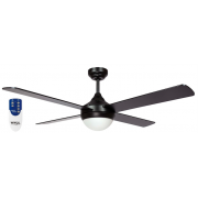 AIR SYNERGY II 120CM MATT BLACK CEILING FAN LIGHT REMOTE PACKAGE