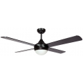 AIR SYNERGY II 130CM MATT BLACK CEILING FAN WITH LIGHT